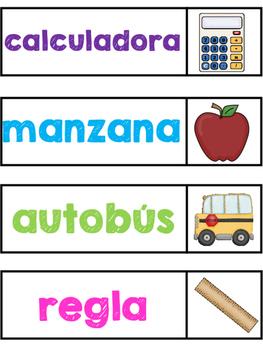 Alphabetical Order - Back to School (Spanish)