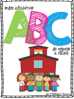 Alphabetical Order - Back to School (Spanish)