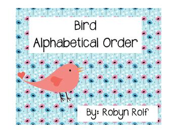 Alphabetical Order: Bird Words