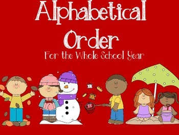 Alphabetical Order Bundle