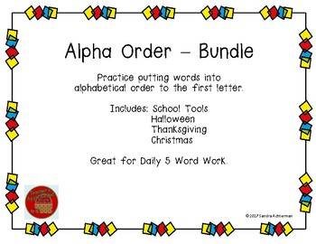 Alphabetical Order - Bundle