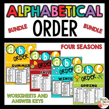 Alphabetical Order Bundle - Seasons