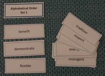 Alphabetical Order Card Sort Activity