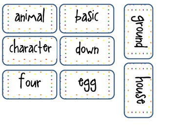 Alphabetical Order Center Cards