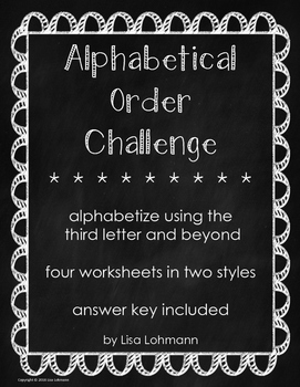 Alphabetical Order Challenge