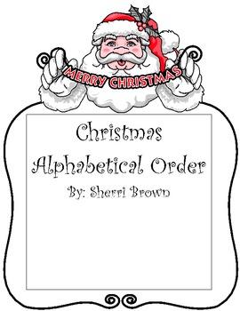Alphabetical Order Christmas Theme