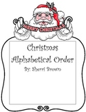 Alphabetical Order Christmas Theme