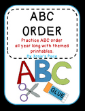 Alphabetical Order  Cut and Paste Printables