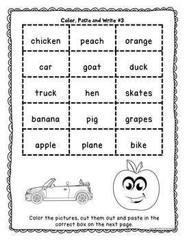 Alphabetical Order Cut and Paste and Sorting Activity- ABC Order