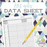 Alphabetical Order Data Sheet
