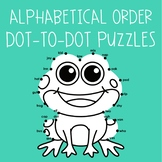 Alphabetical Order Dot-to-Dot Puzzles