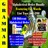 Alphabetical Order Featuring Fry Words: List: 2: 101-200