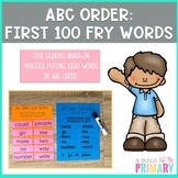 Alphabetical Order- First 100 Fry Words