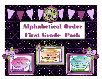 Alphabetical Order First Grade Pack