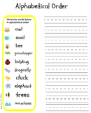 Alphabetical Order Free Preview