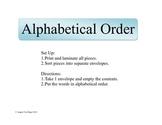 Alphabetical Order Fun