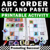 Kindergarten Alphabetical Order Activities, Alphabet Interactive Notebook