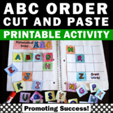 Alphabetical Order Activities, Kindergarten Alphabet Practice, Cut and Paste