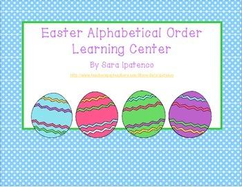 Alphabetical Order Literacy Center: Easter Theme