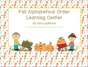 Alphabetical Order Literacy Center: Fall Theme