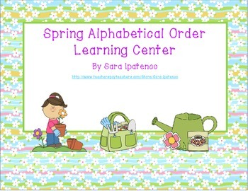 Alphabetical Order Literacy Center: Spring Theme