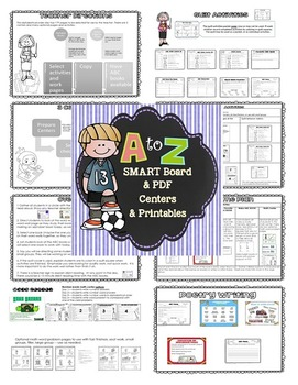 Alphabetical Order Lessons, Centers, Work Pages, Pocket Chart Cards