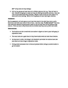 Alphabetical Order Lesson Plan