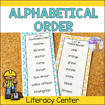 Alphabetical Order Literacy Center