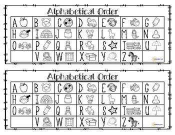 Alphabetical Order- Literacy Center