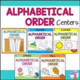 Alphabetical Order Literacy Centers Bundle
