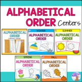 Alphabetical Order Literacy Centers Bundle