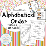 Alphabetical Order Mazes and Task Cards for Second Grade Review