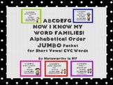 Alphabetical Order JUMBO Pack for Short Vowel CVC Words