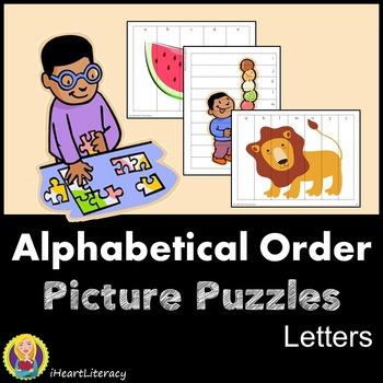 Alphabetical Order Picture Puzzles - Letter Puzzles