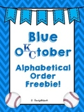 Alphabetical Order Post Season Baseball Packet