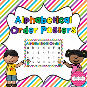 Alphabetical Order Posters