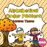 Alphabetical Order Posters- Autumn Theme