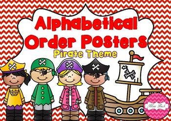 Alphabetical Order Posters- Pirate Theme