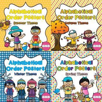 Alphabetical Order Posters- Season Bundle