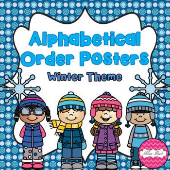 Alphabetical Order Posters- Winter Theme