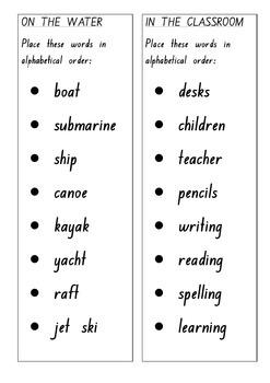 ABC Alphabetical Order Practice