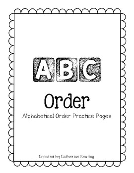 Alphabetical Order Practice Pages
