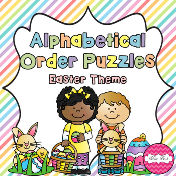 Alphabetical Order Puzzles- Easter Theme
