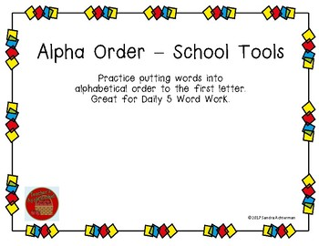 Alphabetical Order - School Tools