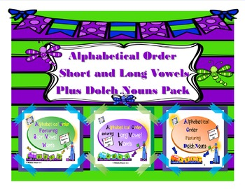 Alphabetical Order Short and Long Vowel Plus Dolch Nouns