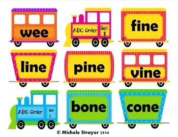 Alphabetical Order Short and Long Vowel Plus Dolch Nouns Bundle