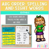 Editable ABC Order Sight Words & Spelling Words