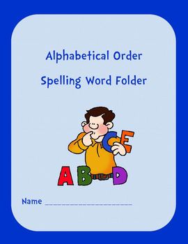 Alphabetical Order Spelling Word Folder