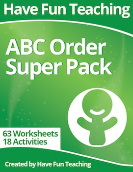 Alphabetical Order Super Pack (81 ABC Order Worksheets and Activities)