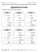 Alphabetical Order (Take It to Your Seat Centers)
